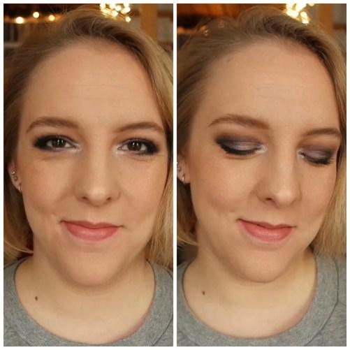 Purple & silver festive make up look