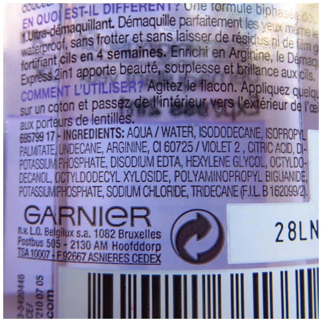 Garnier waterproof eye make up remover