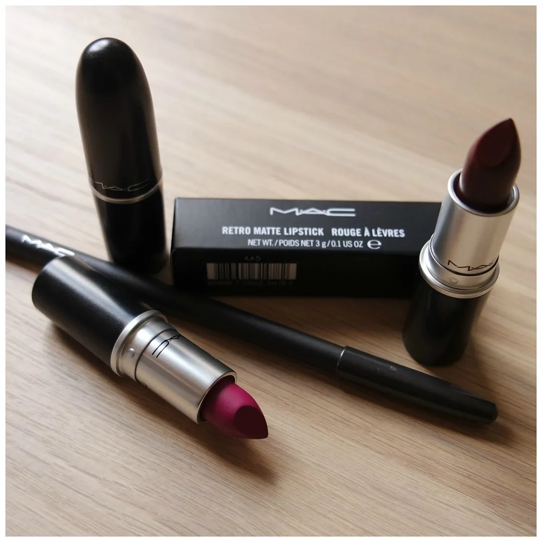 Amato MAC Lipsticks: Whirl, Flat Out Fabulous, Sin & Currant – Floating  FF98