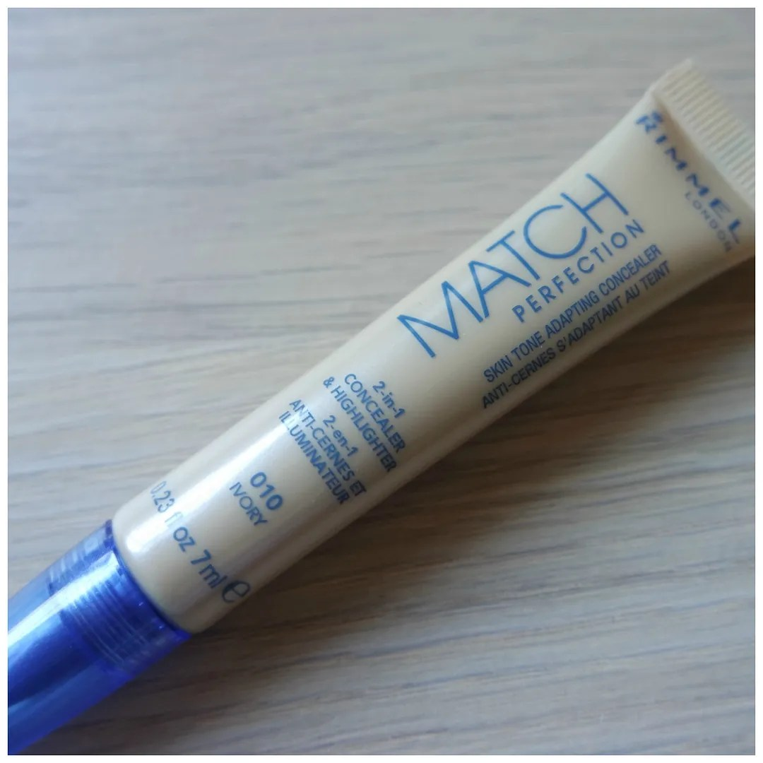 rimmel match perfection concealer review swatch