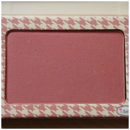 the balm instain blush houndstooth review swatch