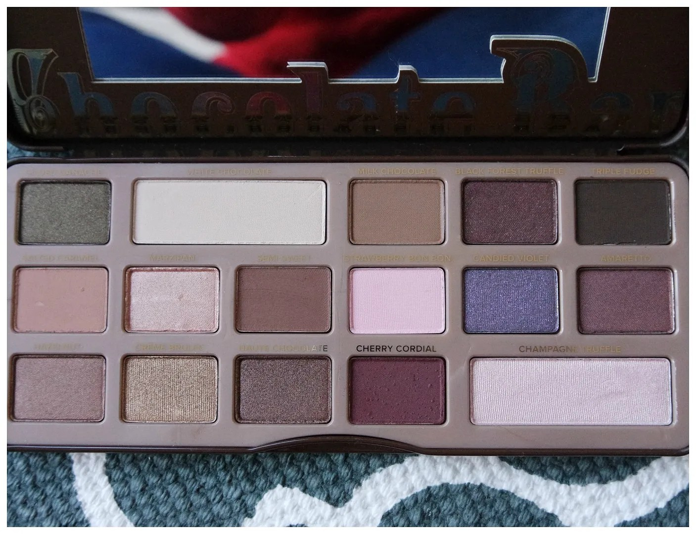 too faced chocolate bar eyeshadow palette review swatch