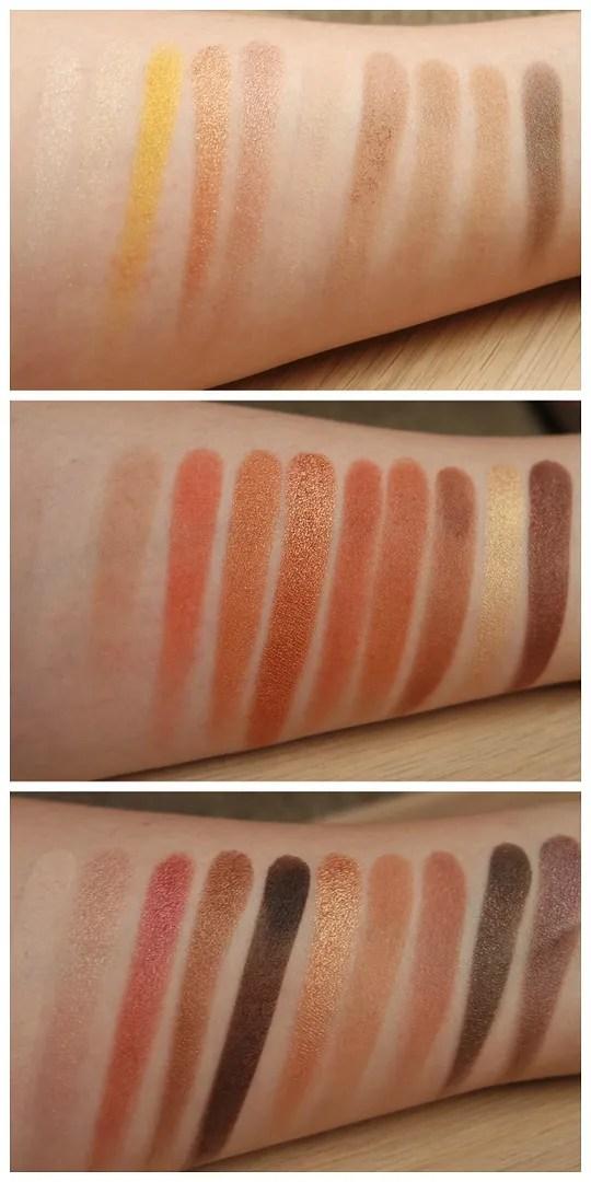 Zoeva Plaisir Box: Blanc Fusion, Caramel Melange, Cocoa Blend eyeshadow palette swatch