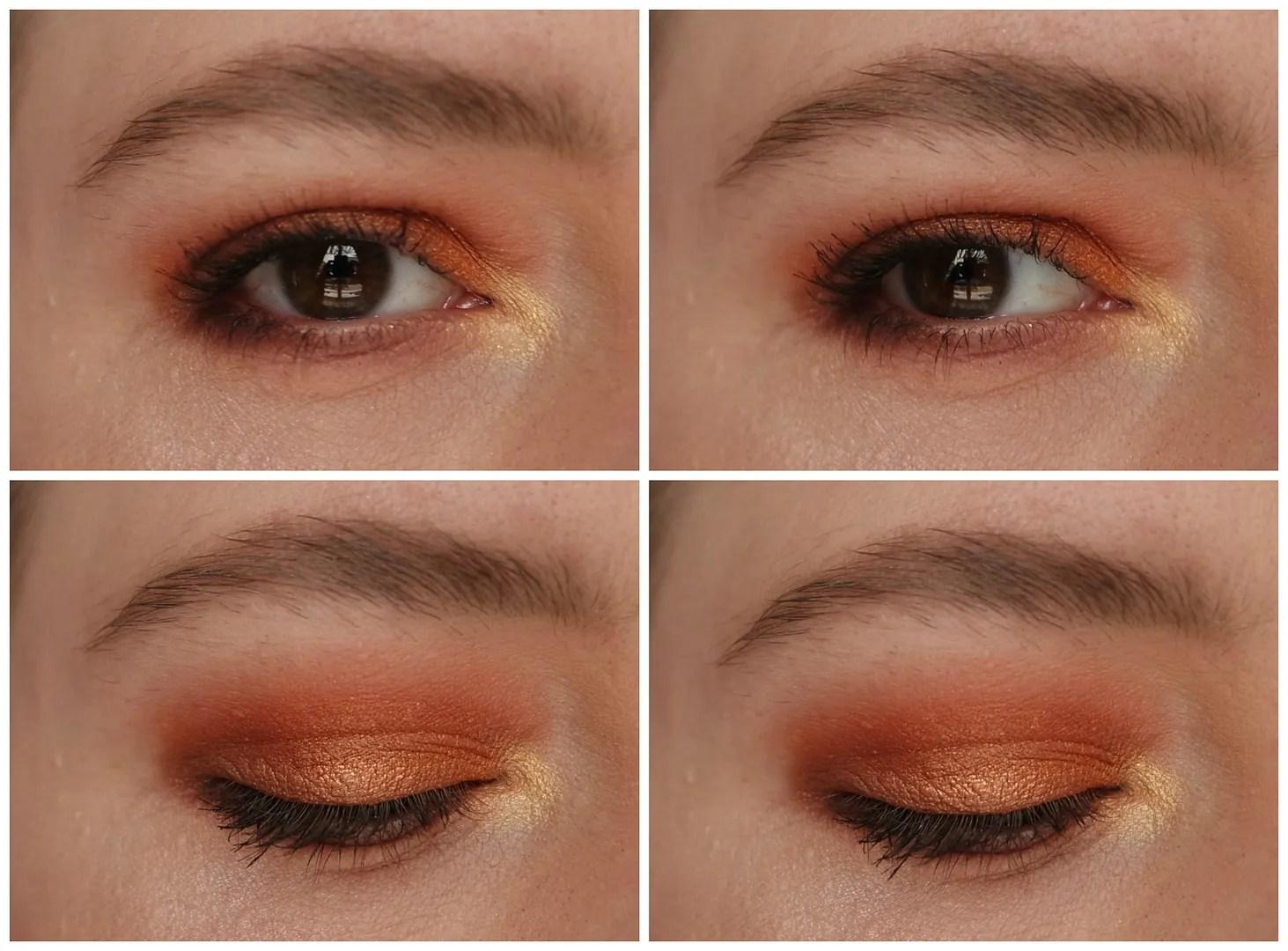 Zoeva Caramel Melange look swatch eyeshadow palette