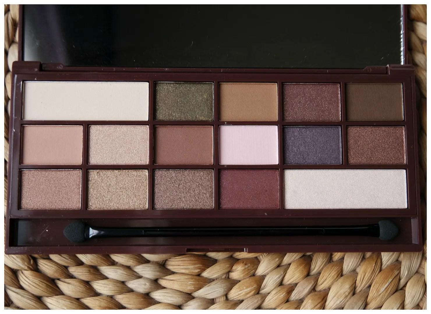 I heart makeup I heart chocolate chocolate bar eyeshadow palette review swatch