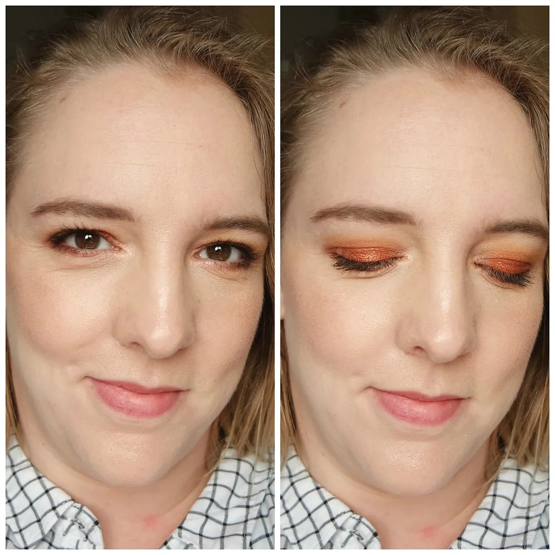 make up geek eyeshadow palette singles review swatch