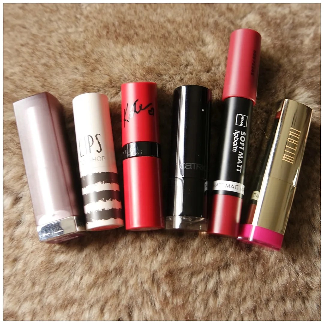 best drugstore lipstick formula review maybelline rimmel topshop catrice hema milani