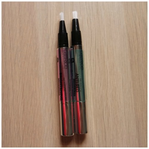 catrice colour corrector concealer re-touch anti-red brightening review swatch lavender green