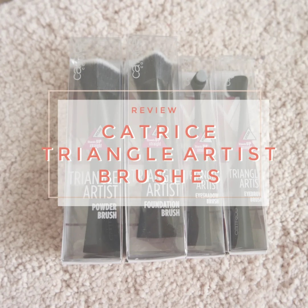 catrice triangle artist brush collection brushes foundation powder eyeshadow eyeliner eyebrow review swatch