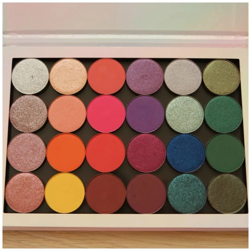 colourpop single eyeshadow palette review swatch makeup looks