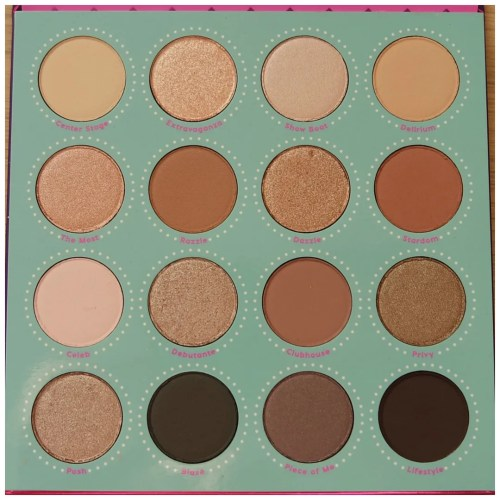 colourpop the fame eyeshadow palette review swatch makeup look