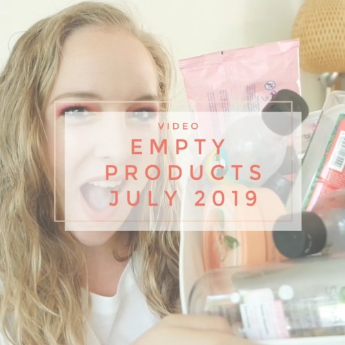empty products july 2019 bodycare haircare skincare
