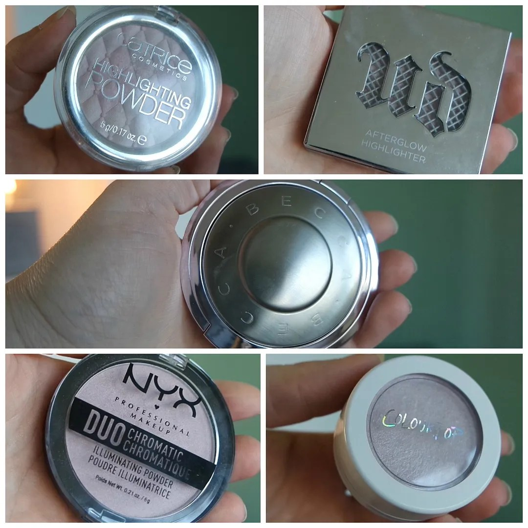 perfect highlighters for fair skin becca urban decay catrice nyx colourpop
