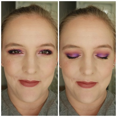 huda beauty amethyst obsessions review swatch eyeshadow palette look
