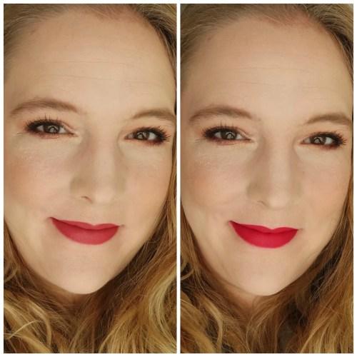 lise watier rouge gourmand velours lipstick review swatch lipswatch application makeup look cassis zinfandel