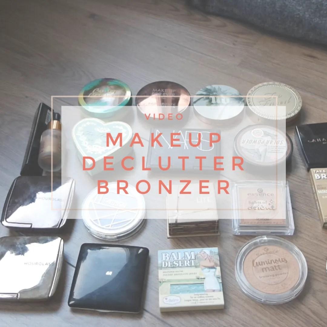 makeup declutter 2019 bronzer