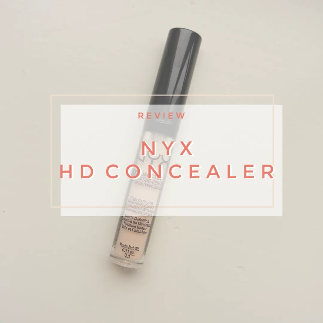 NYX HD concealer cw02 fair review swatch