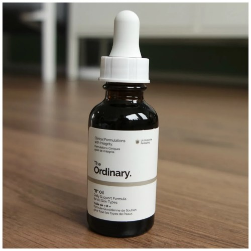 the ordinary b oil review swatch skincare face oil