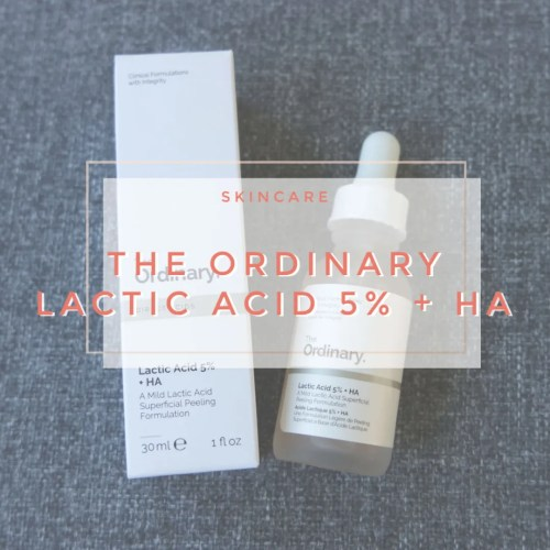 the ordinary lactic acid skincare review swatch 5% ha