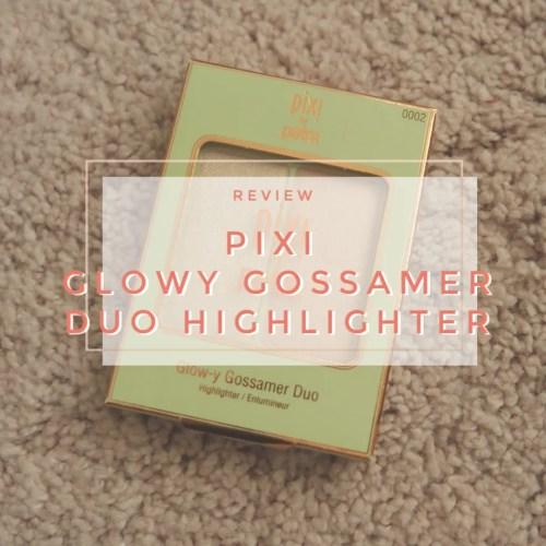 pixi glowy gossamer duo highlighter review swatch subtle sunrise