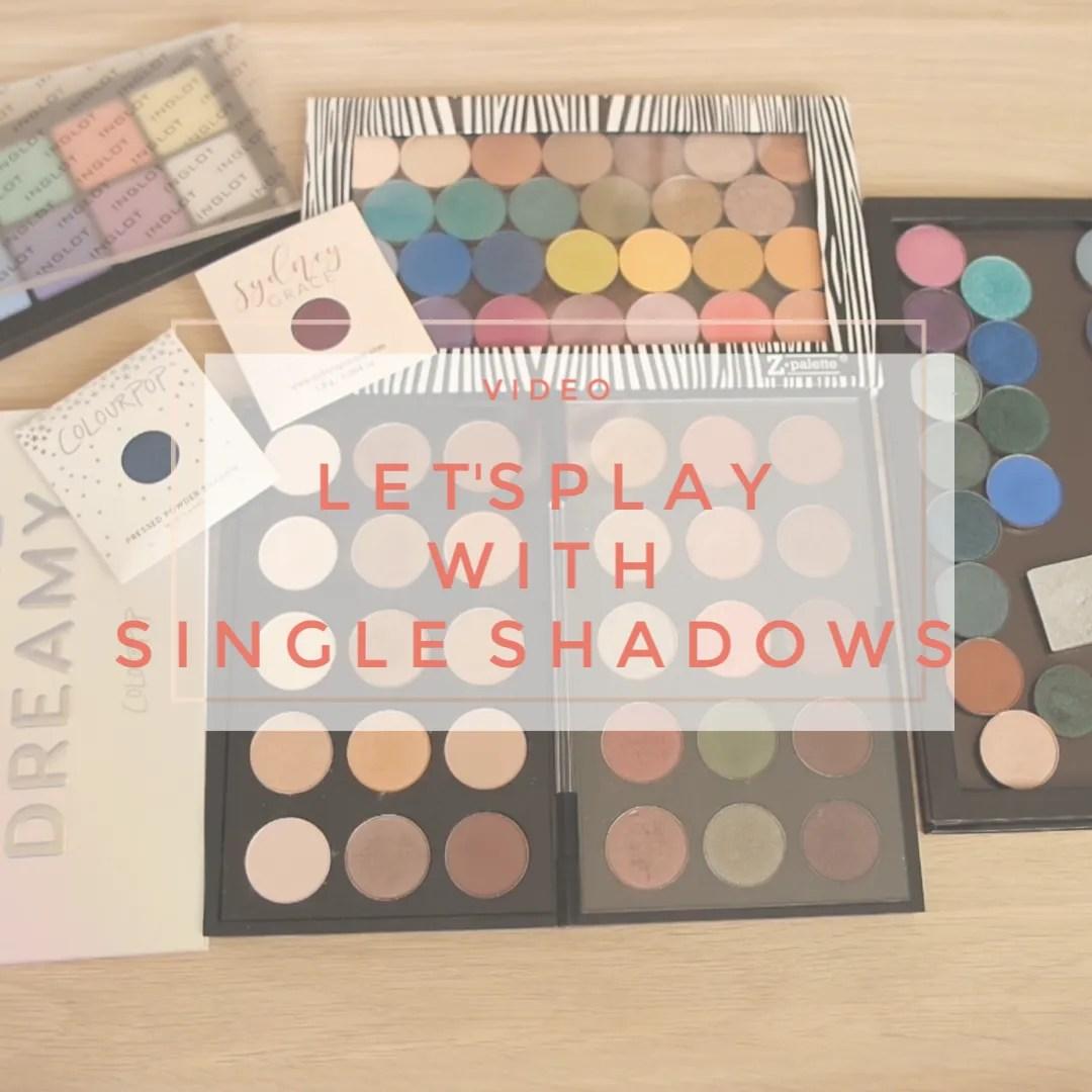 single eyeshadow zpalette mac inglot colourpop palette review swatch nabla coloured raine anastasia sidney grace