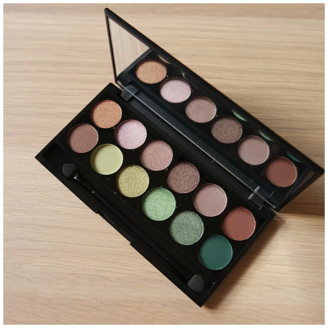 sleek I-divine eyeshadow palette garden of eden swatch review