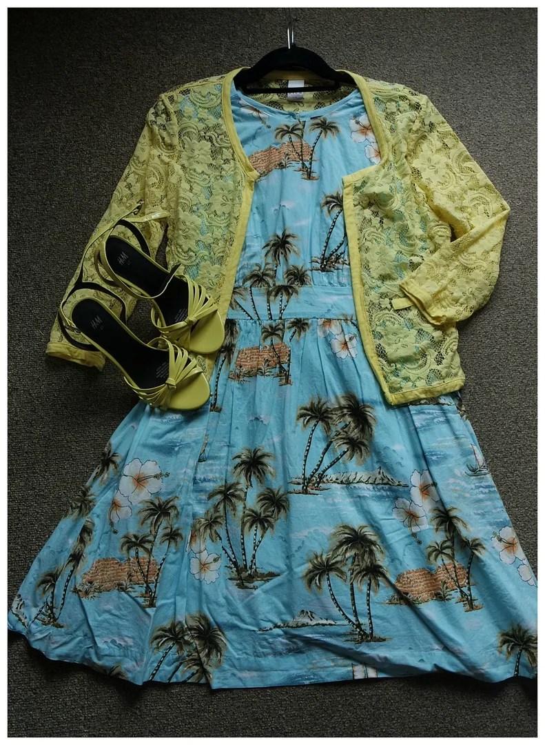 how I wear tropical print