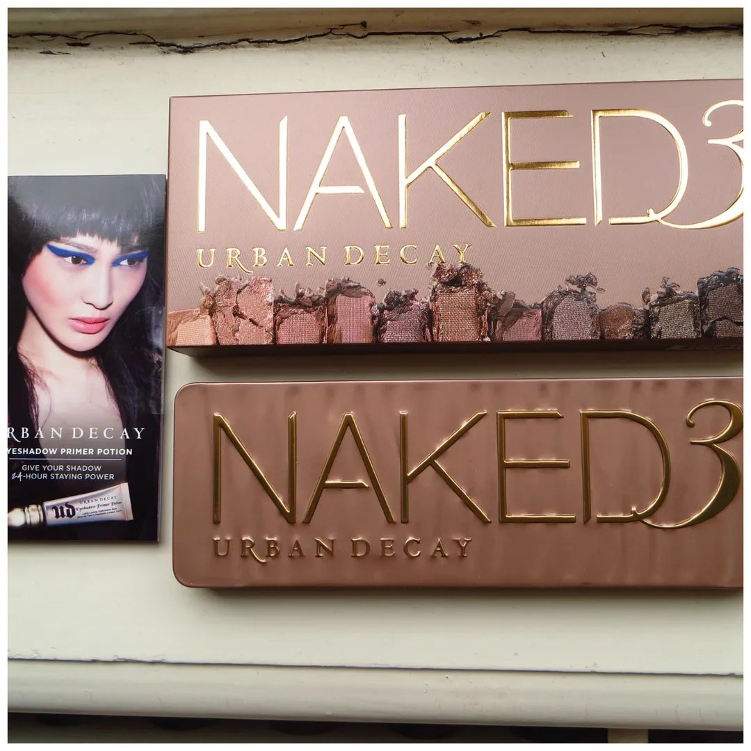 urban decay naked 3 eyeshadow palette review swatch
