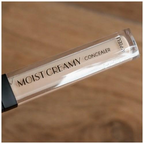a'pieu apieu moist creamy concealer 3 porcelain review swatch makeuplook