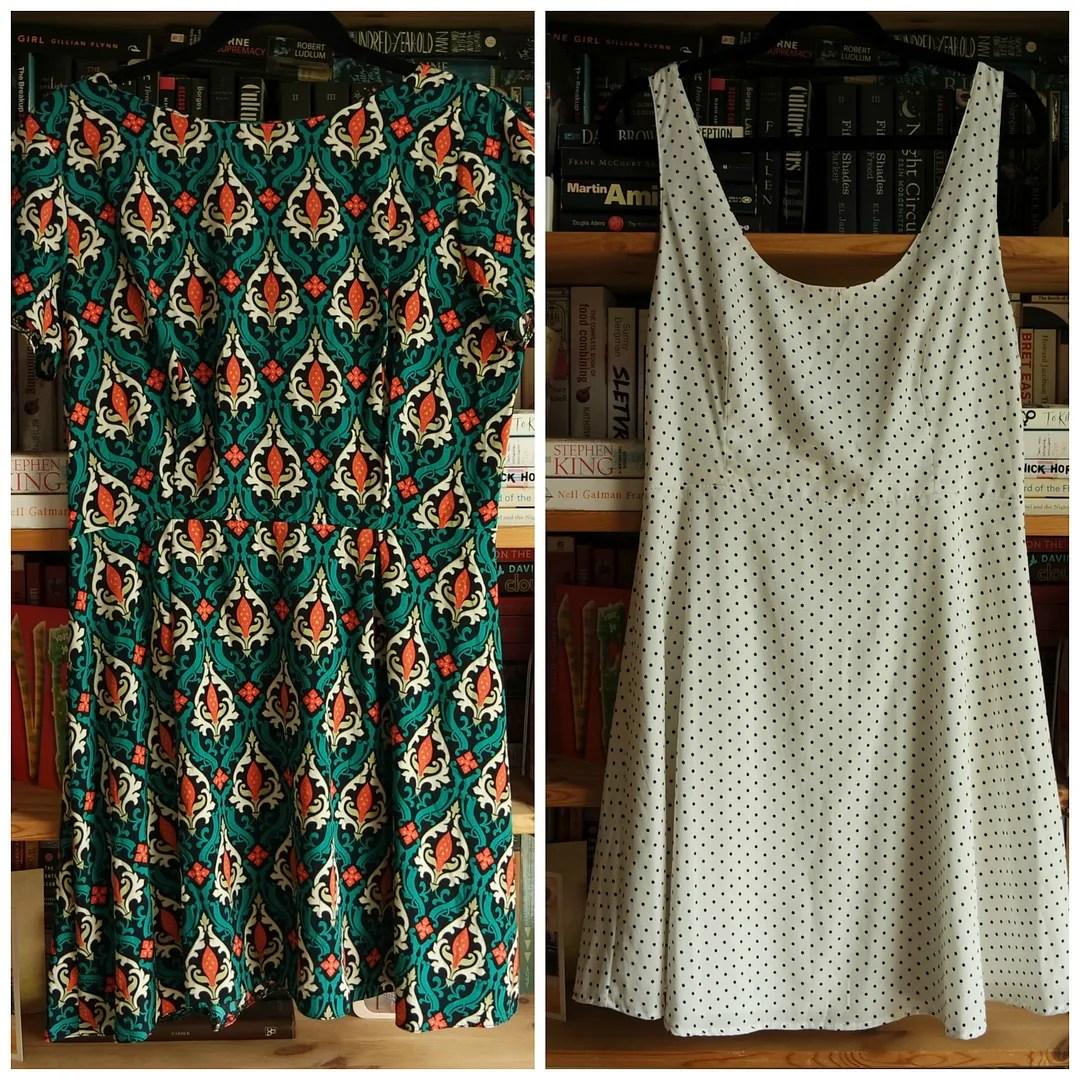 Zara White & black polka dot print dress Topshop Baroque print dress