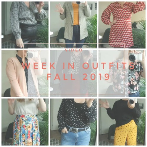week in outfits fall transitional outfits workwear workweek september 2019