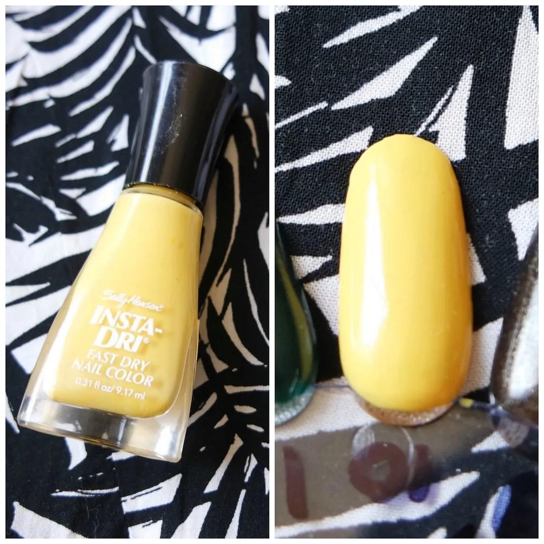 best yellow nail polish swatch