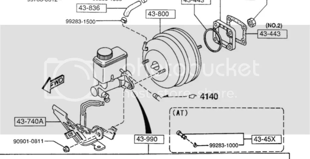 Brake reservoir tank hose
