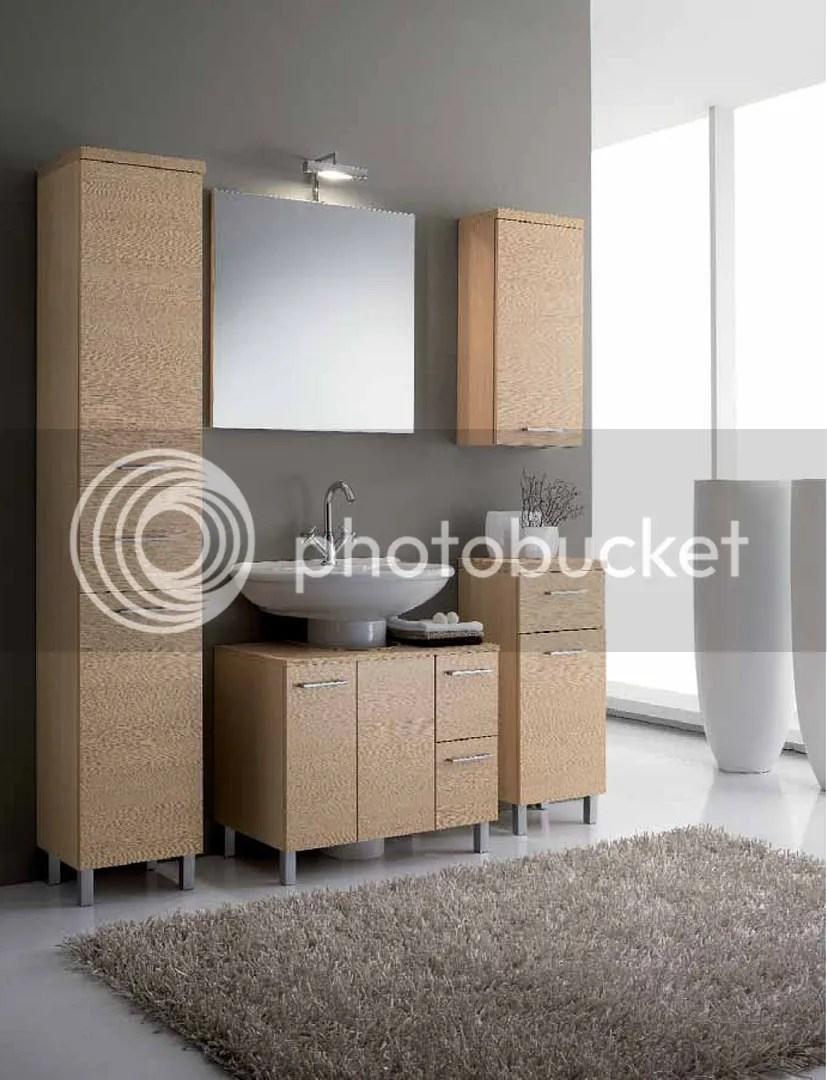 Arredo bagno completo di mobile per lavabo colonna pensile base specchiera  eBay