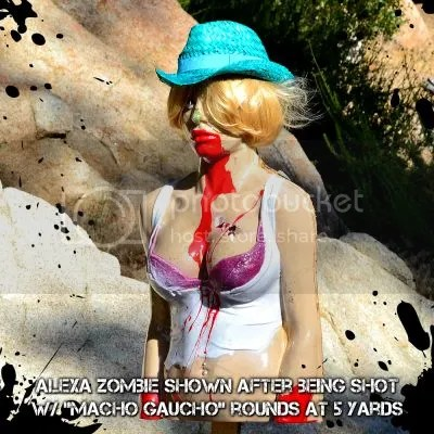 Zombie Target, Blonde woman with blood puring from her mouth