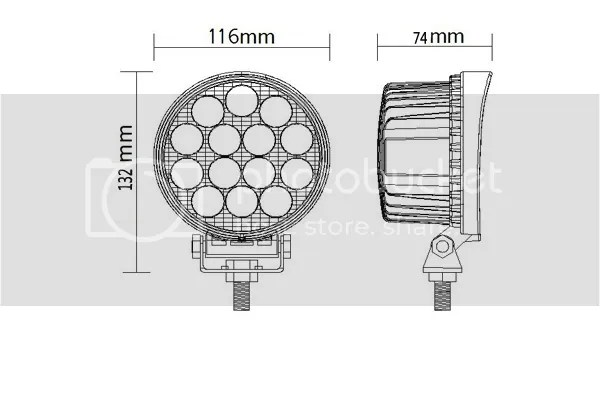 42w LED DRIVING LIGHT SET OFF ROAD JOHN DEERE AIRBOAT