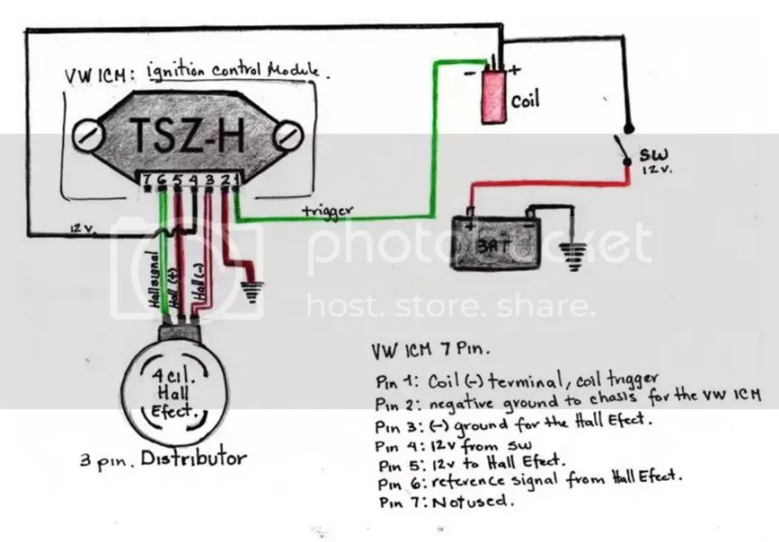 vw electronic ignition wiring diagram