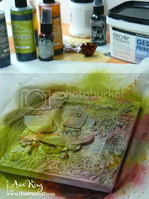 Spraying with colorwash inks