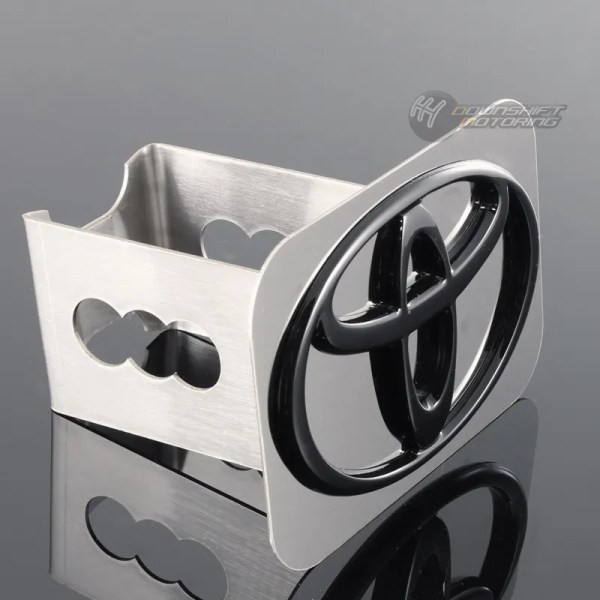 Black Toyota Logo Stainless Hitch Cover Plug Cap 2