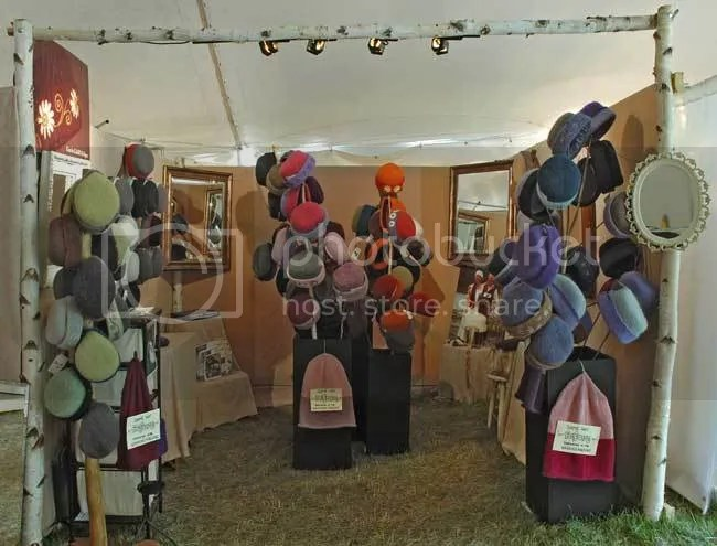 Heirloom Handknit Hats at the League of New Hampshire Craftsmen's Annual Fair.