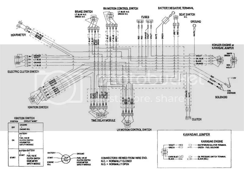wiring diagram for exmark mowers