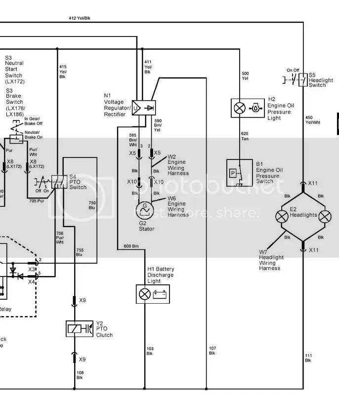 ignition switch wiring diagram for lx178