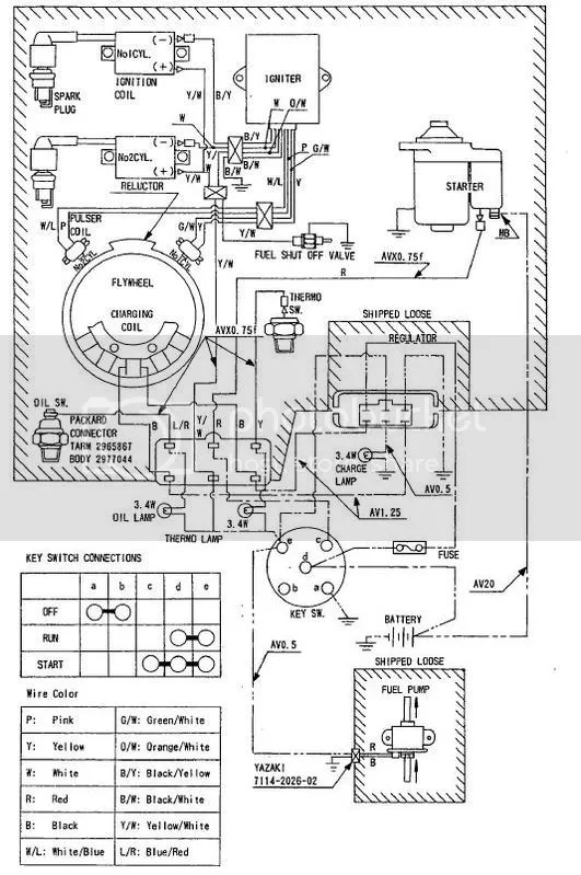 need electrical schematic for a Kawasaki SH626-12