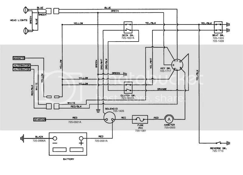 wiring diagram for yardman mower