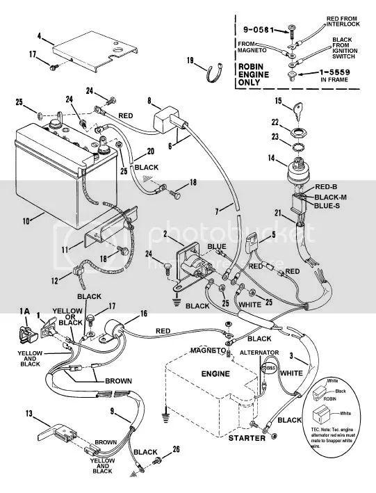 snapper mower wiring harness