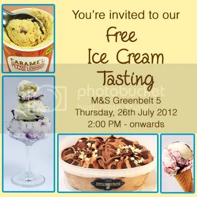 Marks and Spencer Free Ice Cream Tasting