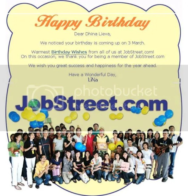 jobstreet bday greeting