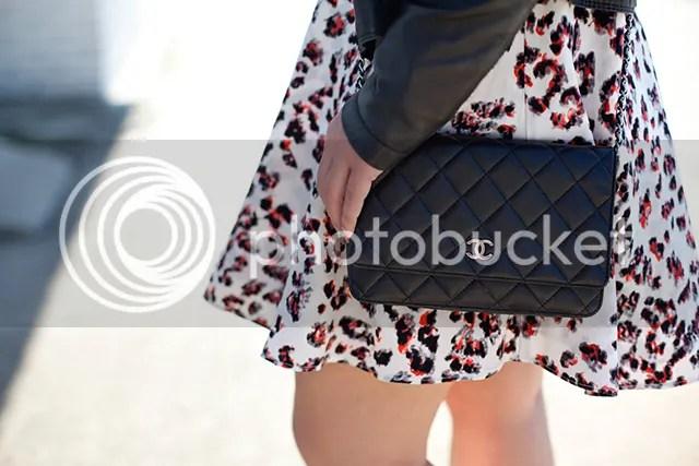 Transitional Season Outfit Parker Dress Zara Leather Jacket Rag & Bone Booties