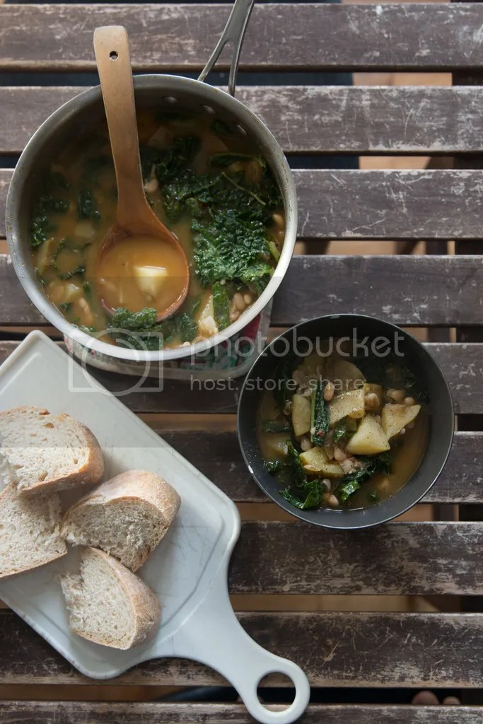potato and white bean chowder