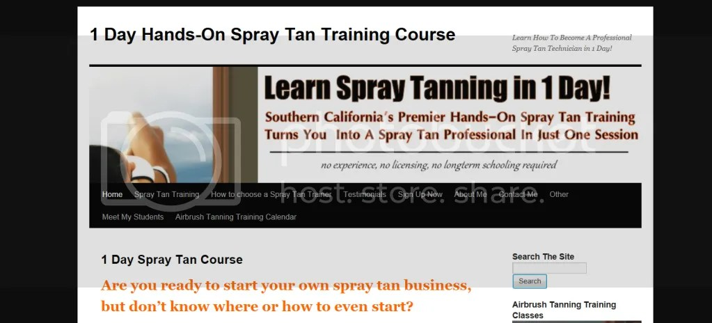 hand spray tanning information sheets